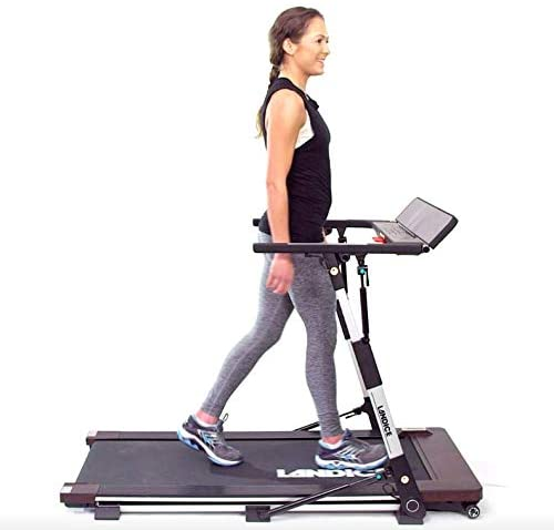 The Landice M1 Folding Treadmill with a compact design