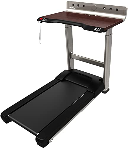 Life Fitness Treadmill Desk has a computer table that can adjust power/Ph.treadmilldesk